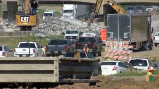 I-44/US 75 construction slows traffic