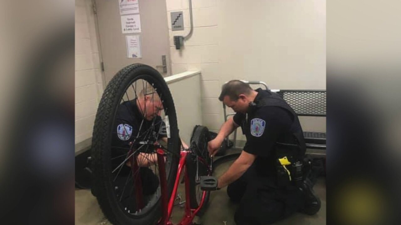 Richmond officers assemble 'special gift' for homelesswoman