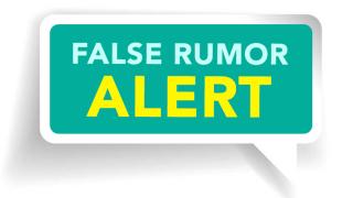 False Rumor Alert