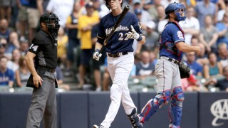YELICH AFTER STRIKEOUT