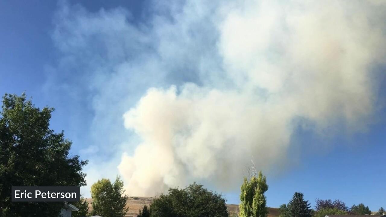 Fire near Hill 57