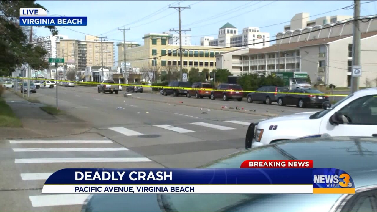 Police: One person killed, two injured in 'serious' Virginia Beachcrash