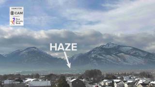 Haze setting up across Western Montana