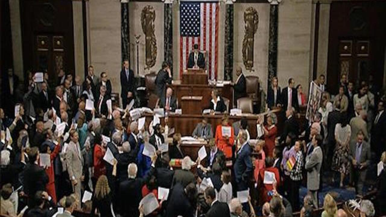 Dems stage election-year sit-in on guns, GOP unmoved