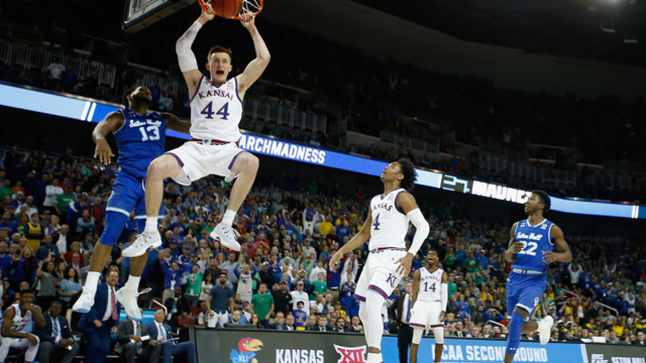 Kansas dances back to Sweet 16