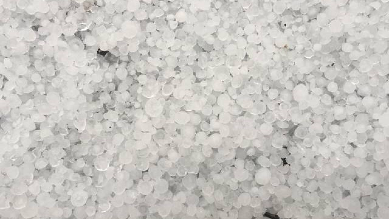 PHOTOS: Quarter-sized hail from April 26 storm