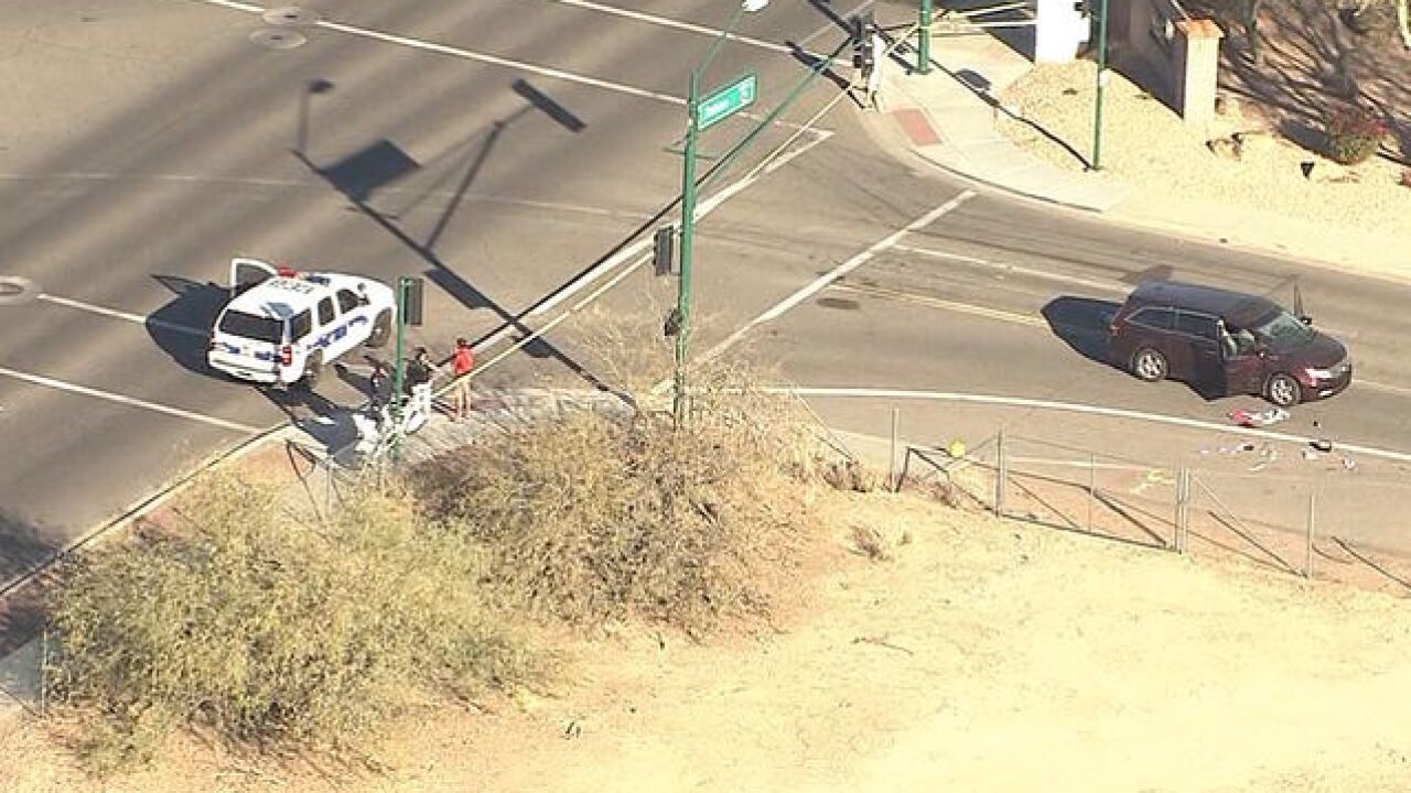 Pedestrian seriously injured in north Phoenix crash