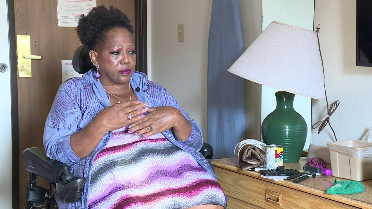'It just can't be my life,' says woman with disabilities living in hotel with no money or family