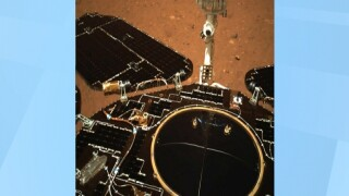 China's Rover Sends Back Pictures Of Mars