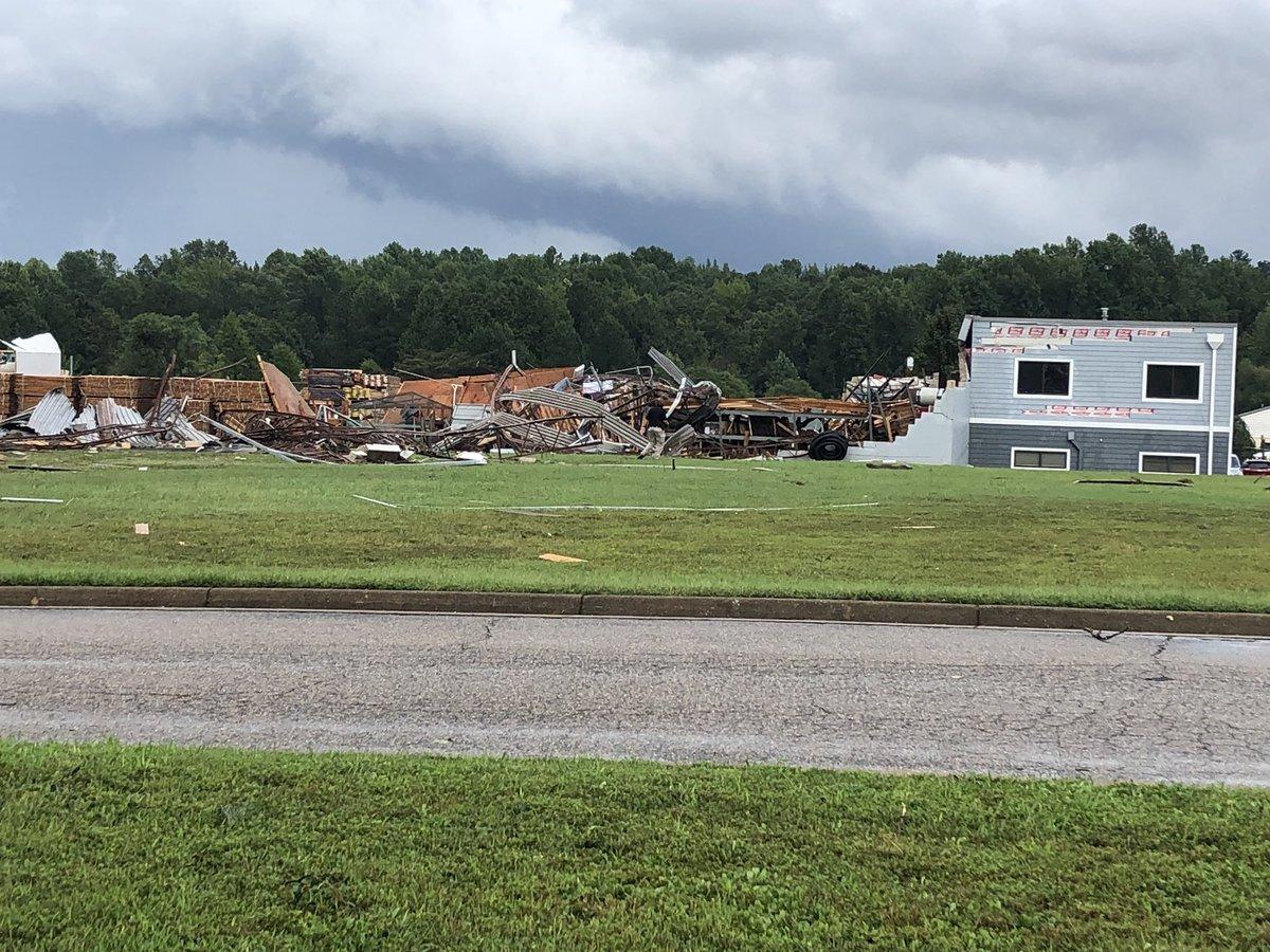 Photos: 1 dead after tornado destroys Chesterfield building near HullStreet