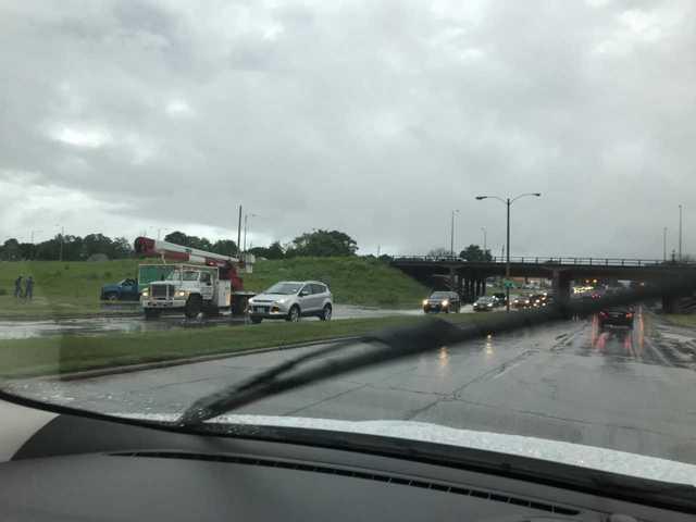 Flash floods cover local roads Monday [PHOTOS]