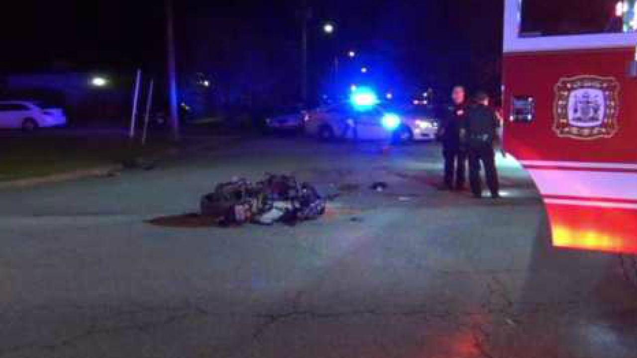 Motorcyclist fighting for his life after crash in Hampton
