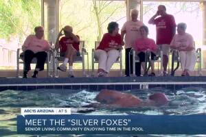 Meet the Silver Foxes, the swim team at Vi at Silverstone senior living center