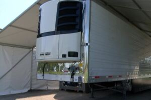 Standby morgue trailers at Seaside Memorial