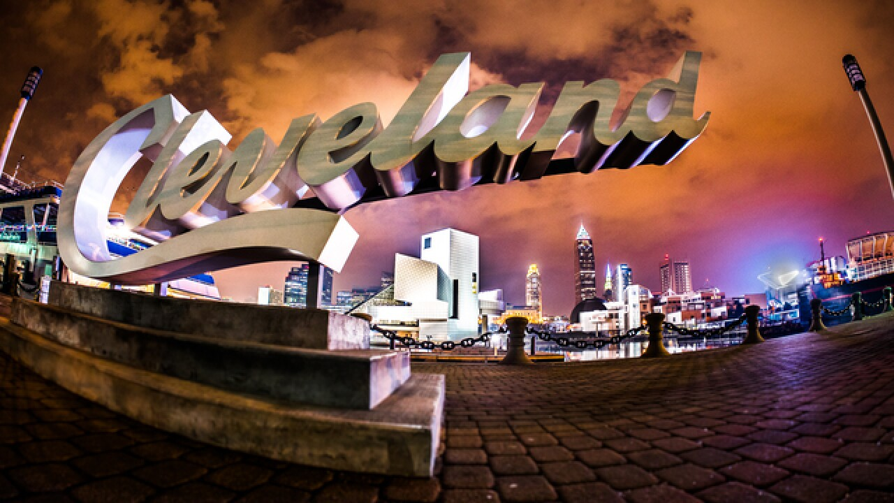 Cleveland At Night Desktop