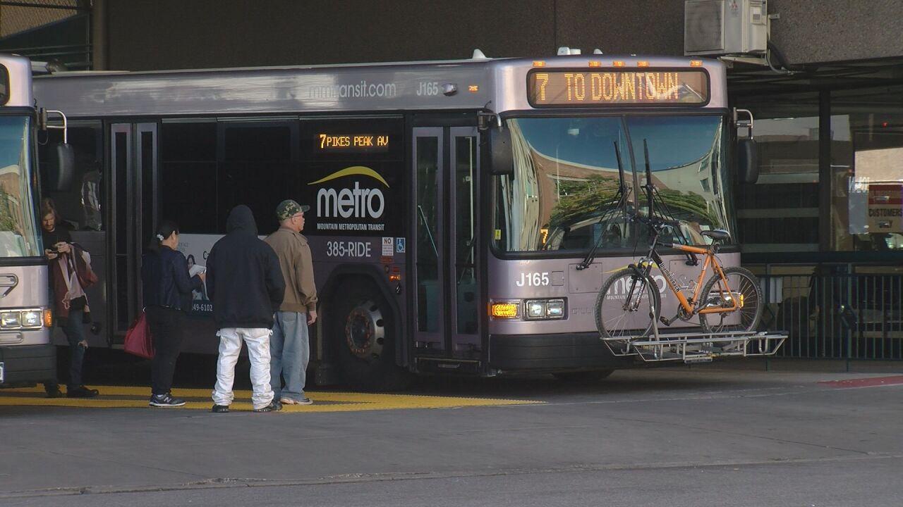 Mountain Metro Bus at Downtown Terminal