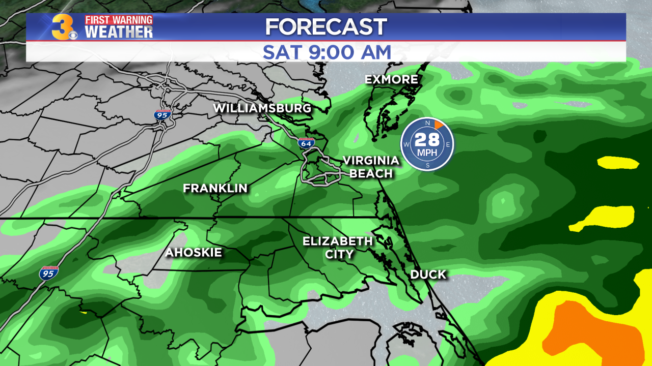 Friday's First Warning Forecast: A coastal storm this weekend