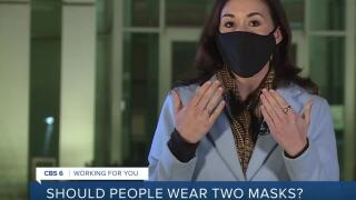 Health expert on wearing two masks
