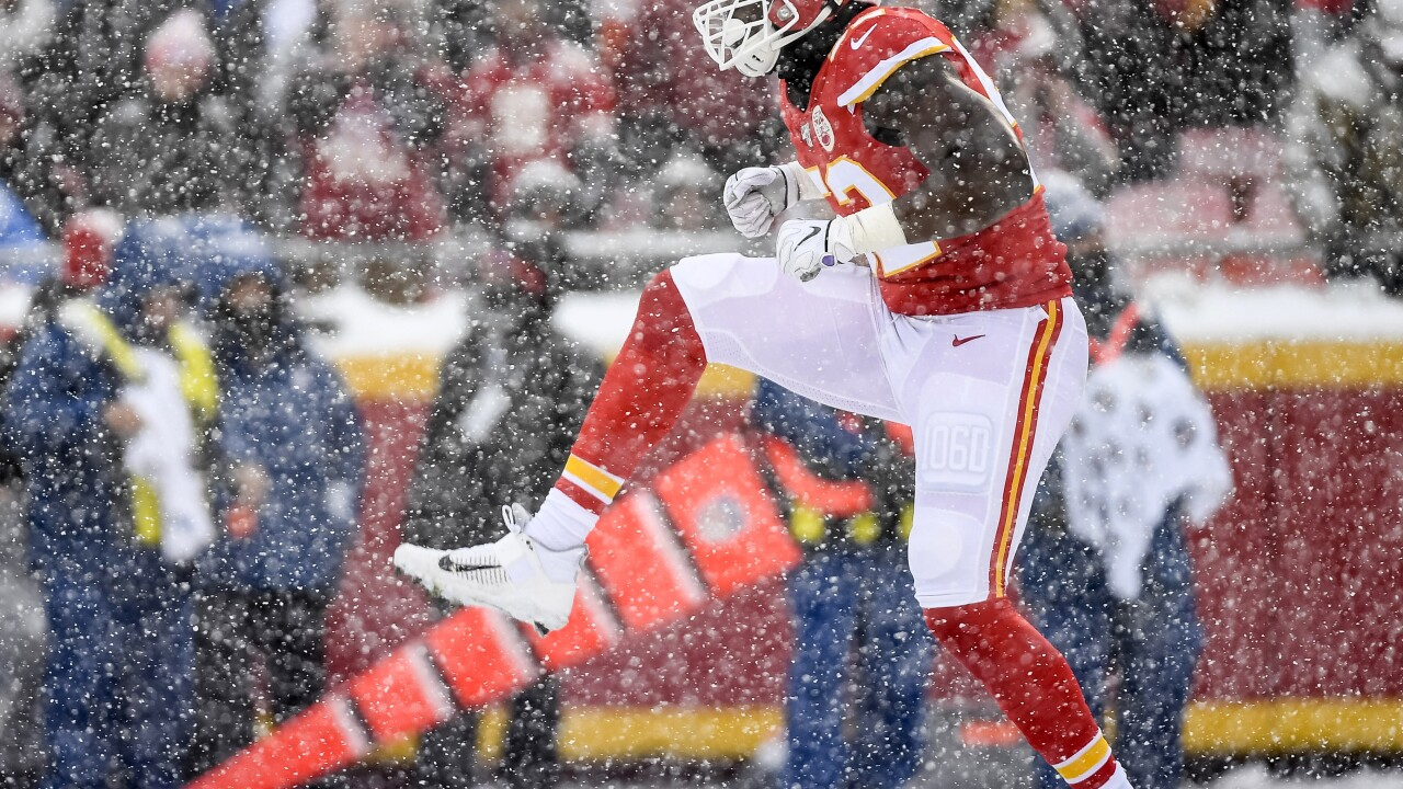 Cheifs LB Demone Harris representing Buffalo in Super Bowl
