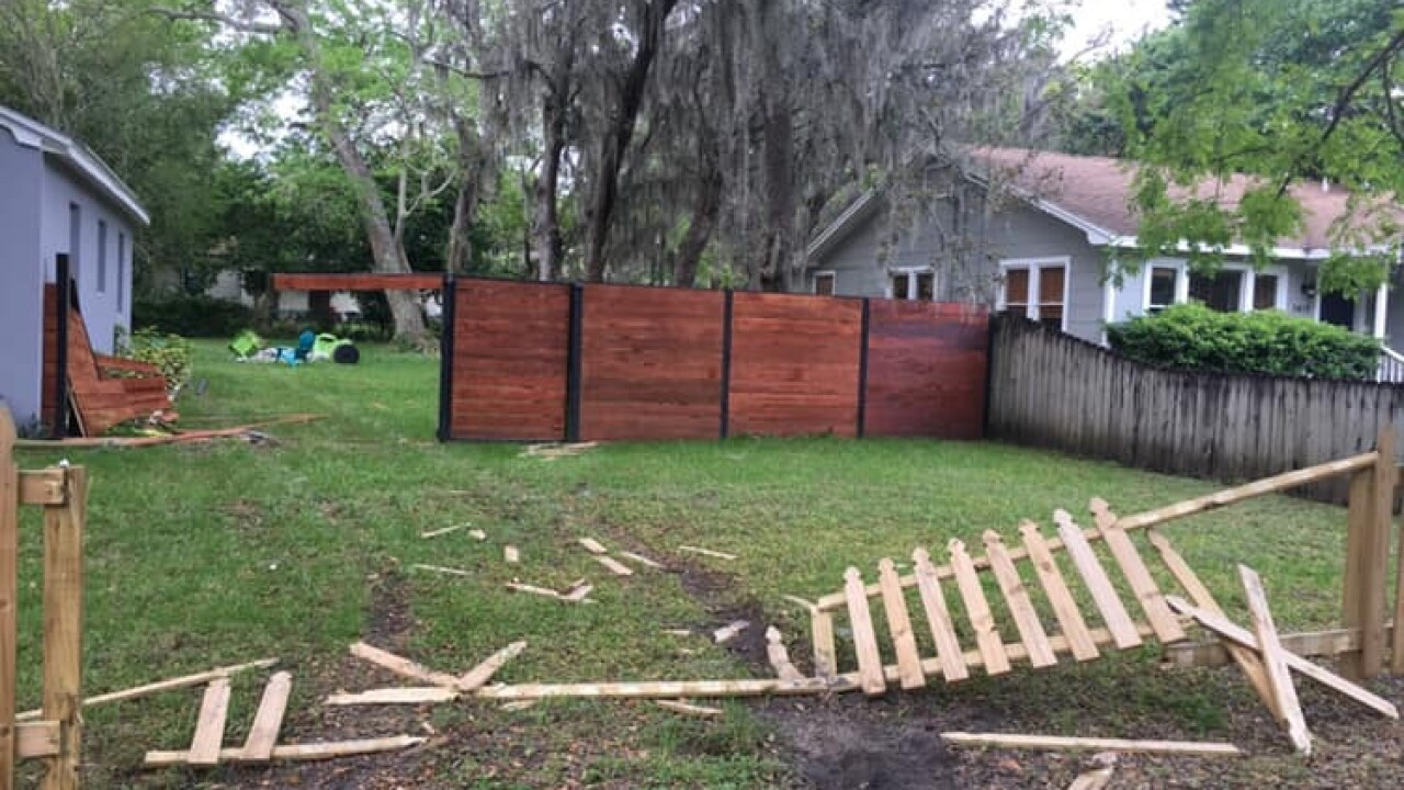 Driver Plows Through Couple S Fence Into Their Backyard And Takes Off