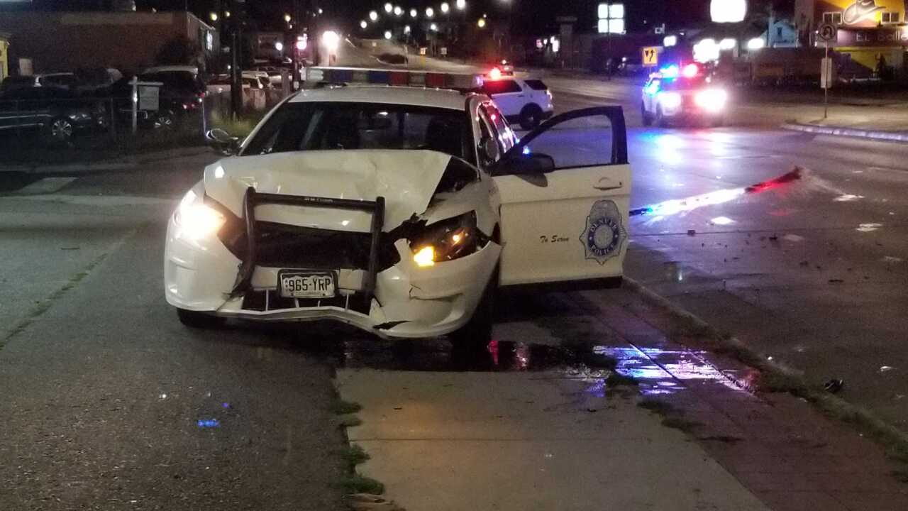 Denver PD car vs. sedan, Sept 23 2019