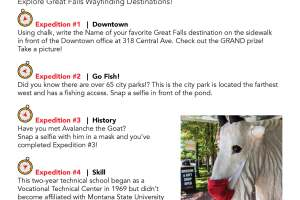 Great Falls BID is conducting a scavenger hunt to promote exploration