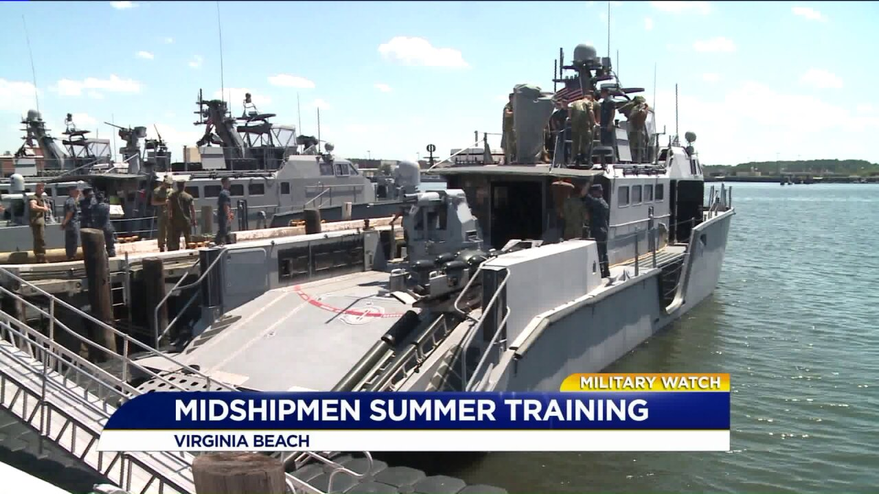 News 3 goes inside Navy Expeditionary Combat Command summer training for Midshipmen