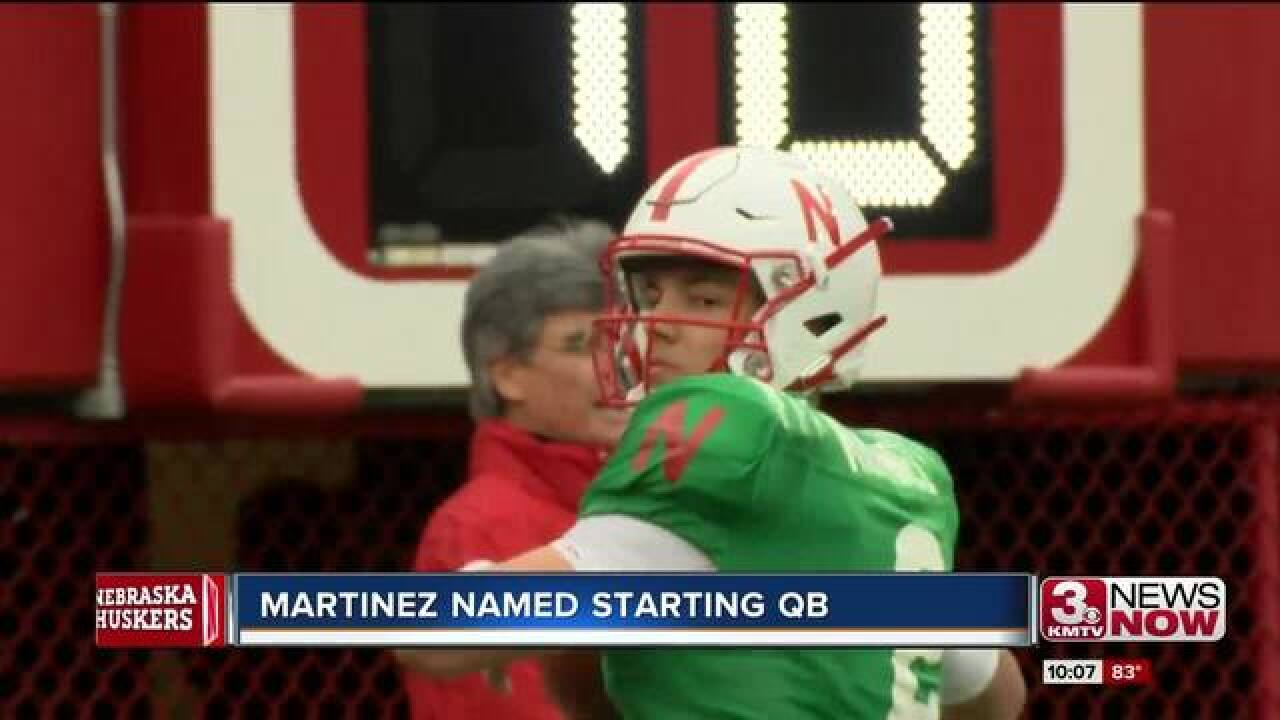 Huskers announce starting quarterback