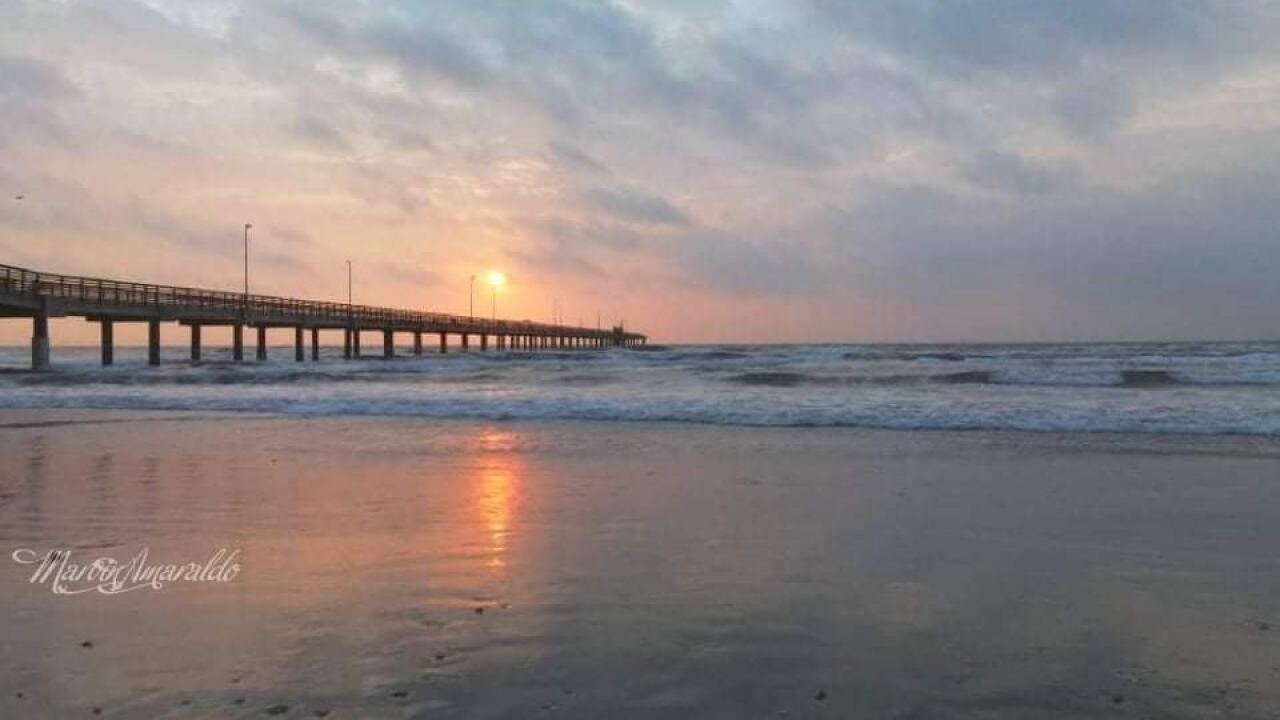 Sunrise at Bob Hall Pier - Photo By: FB Coastal Bend Weather Watcher Marvin Amaraldo