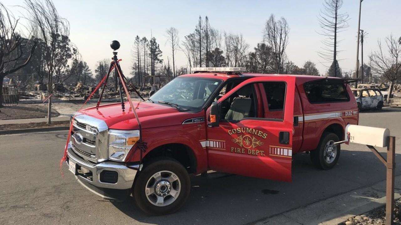 California neighborhood devastated by fire