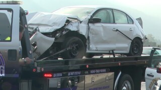 Driver ejected from vehicle, hit by another car in fatal I-15 crash