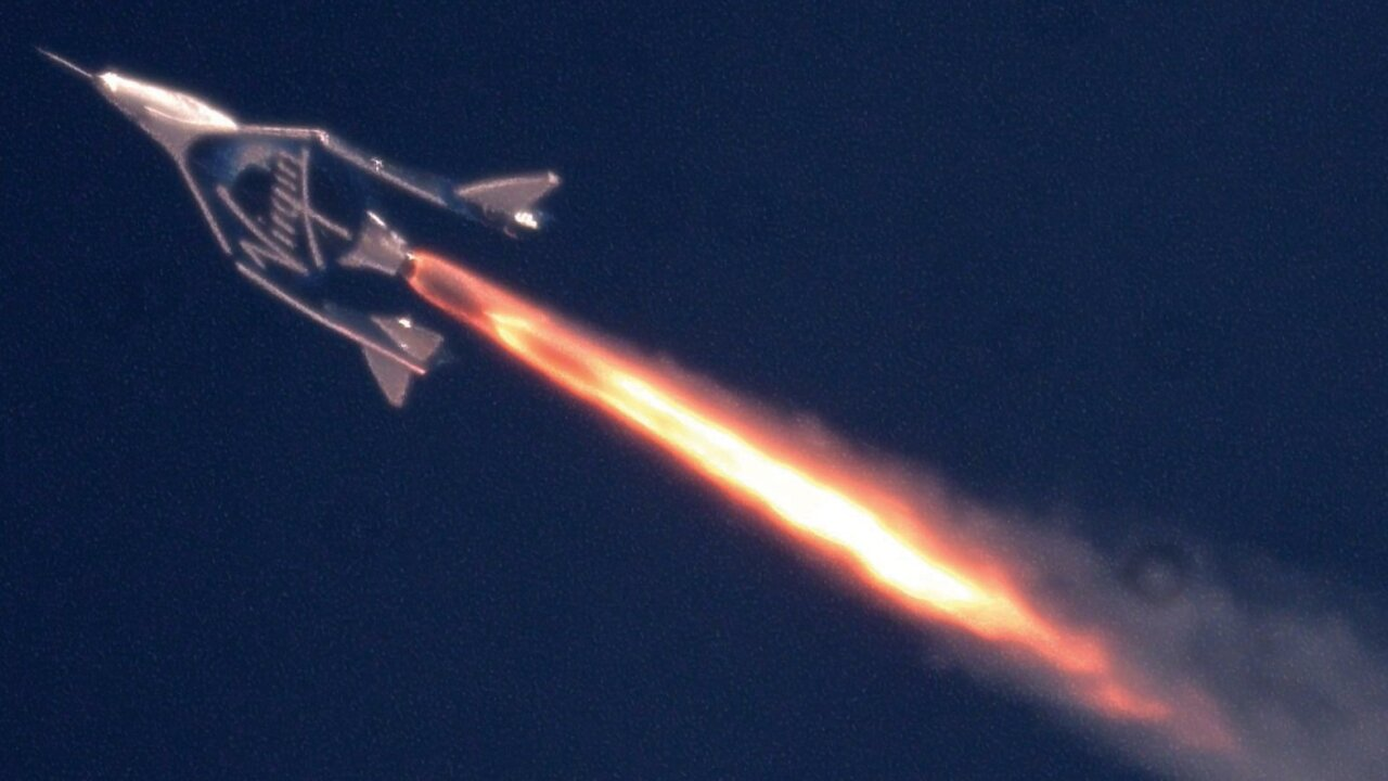 irgin Galactic's supersonic space plane soared into the upper reaches of Earth's atmosphere Thursday for a milestone flight.