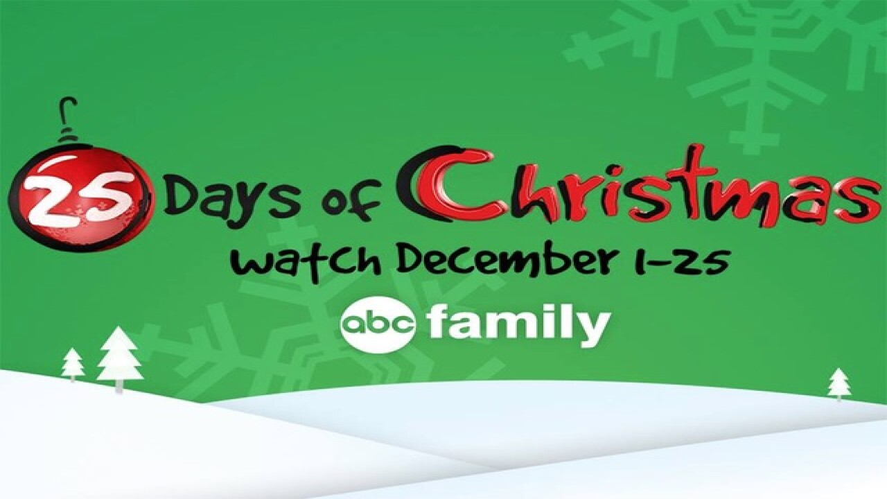 Abc 25 Days Of Christmas.Full Schedule Abc Family S 25 Days Of Christmas