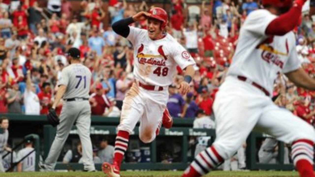 Wade Davis blew the save as the Cardinals beat the Rockies 3-2 on a walk-off hit in the 9th inning
