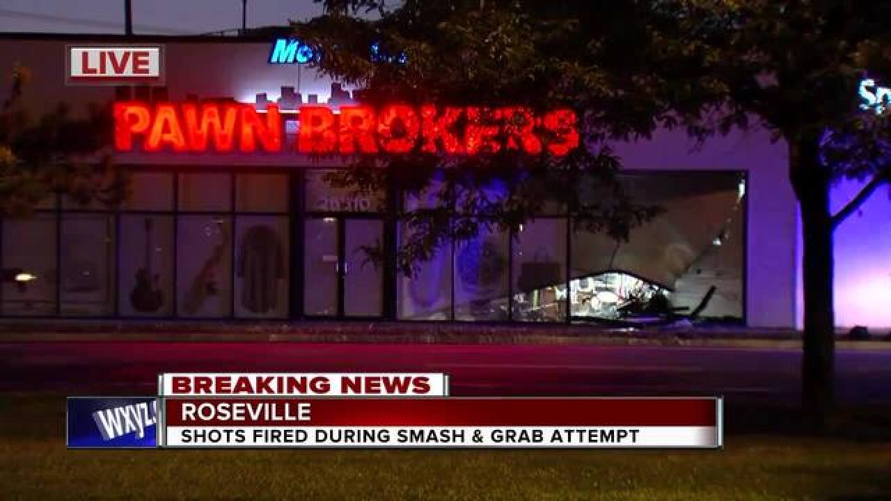 Shots fired during smash-and-grab attempt