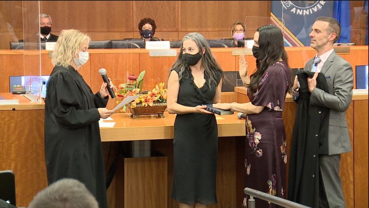 Nevada's Eighth Judicial District Court swears in 22 female judges