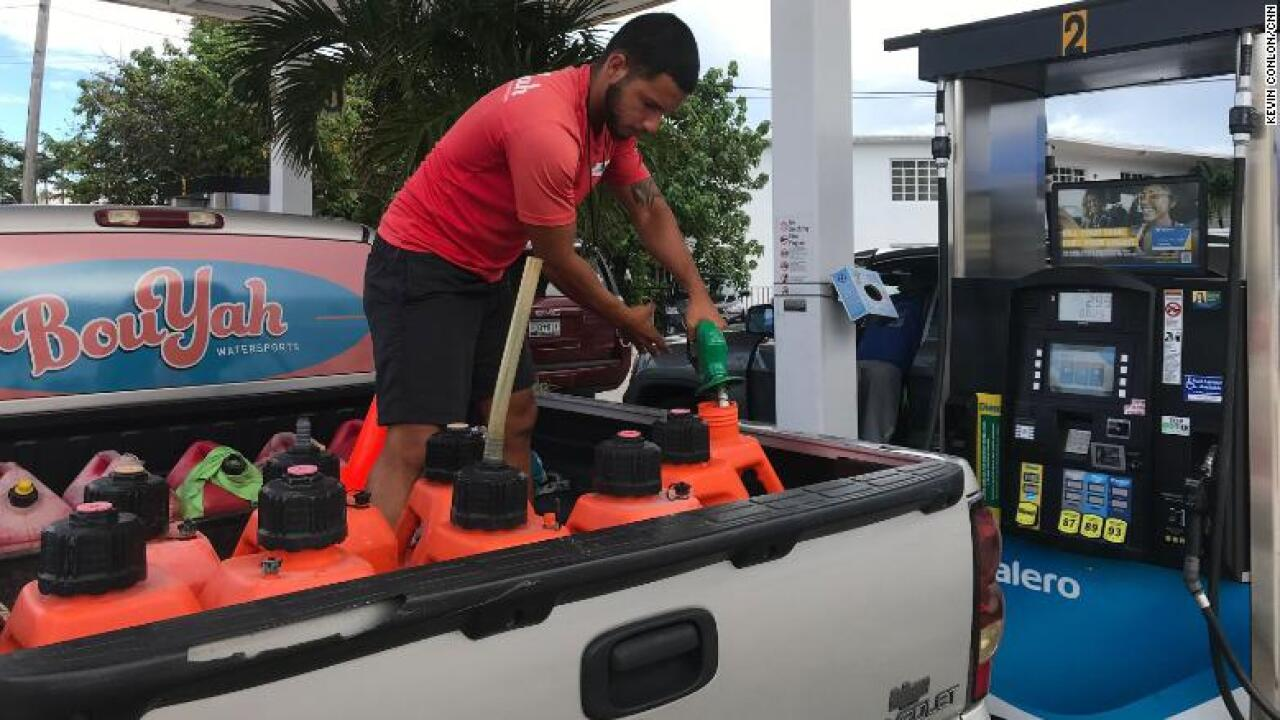 People are leaving their cars at gas stations as fuel runs out in Florida ahead of Hurricane Dorian