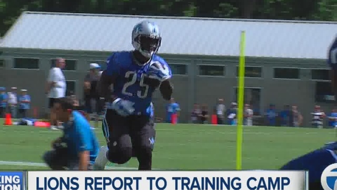 Detroit Lions veterans report to training camp