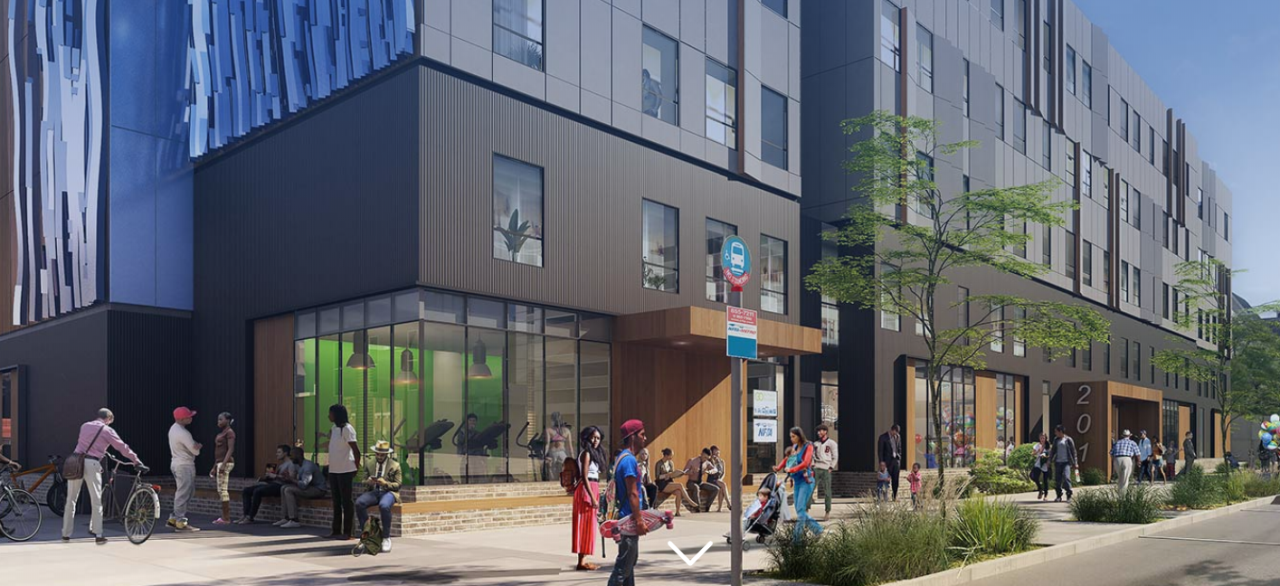 Rendering of development project at 201 Ellicott Street in downtown Buffalo