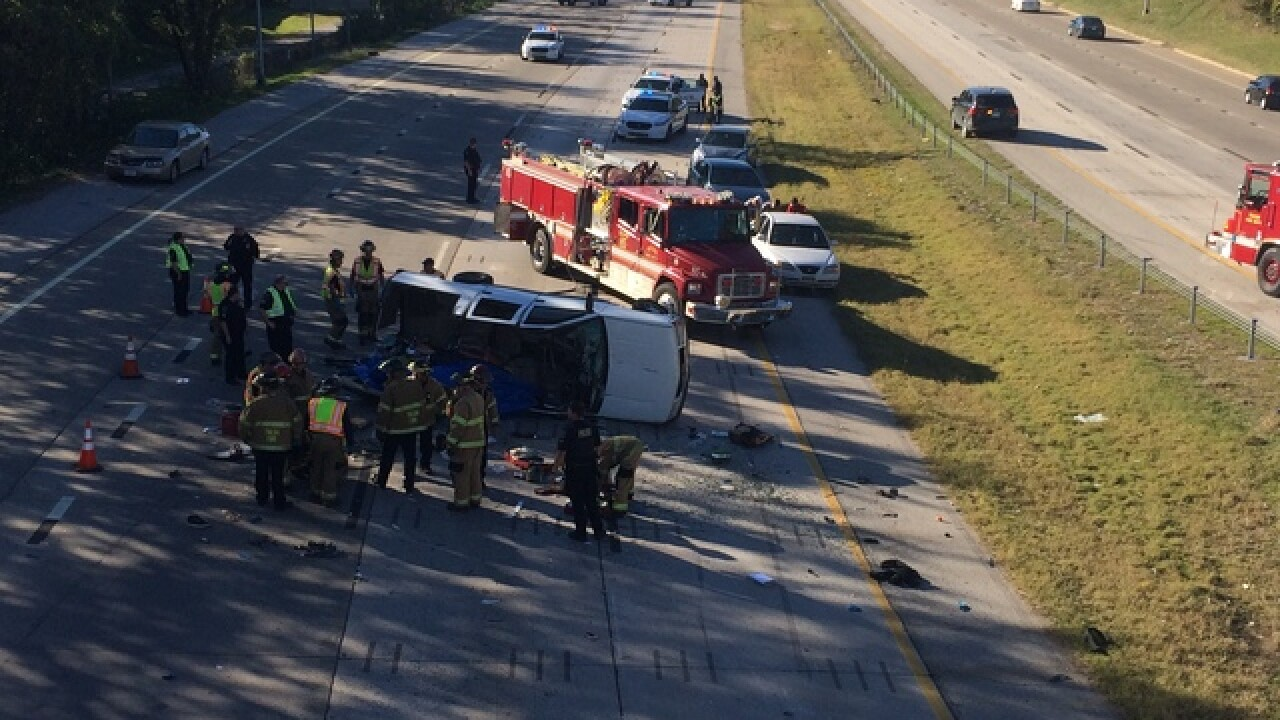 Vehicle accident blocks traffic on Highway 412 Eastbound at North