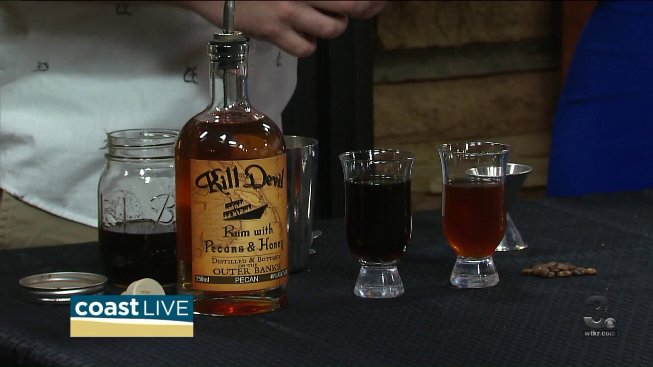 Making Blackbeard's Breakfast with Kill Devil Rum on Coast Live
