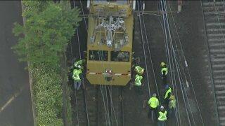 Slow-speed train derailment on NJ Transit Gladstone Branch line
