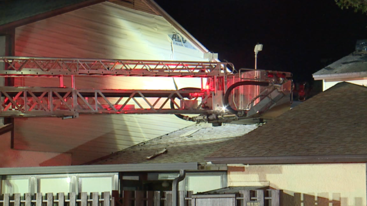Two units respond to townhome fire