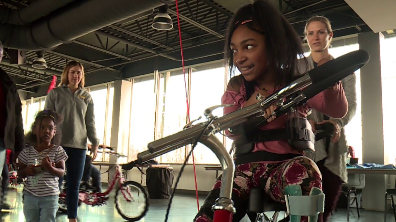 Watching kids gifted adaptive bikes is 'really big day' and 'exciting adventure'