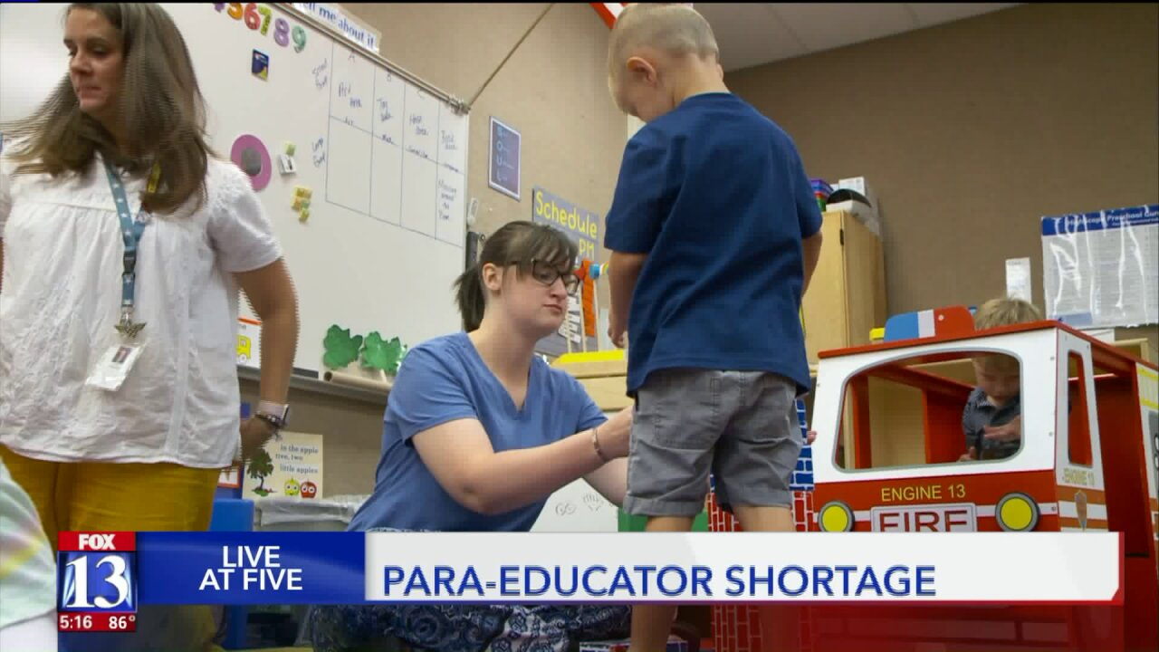 Utah schools struggle with staffing educators for students with special needs