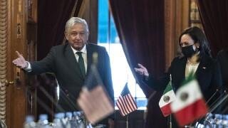 Kamala Harris, Andres Manuel Lopez Obrador