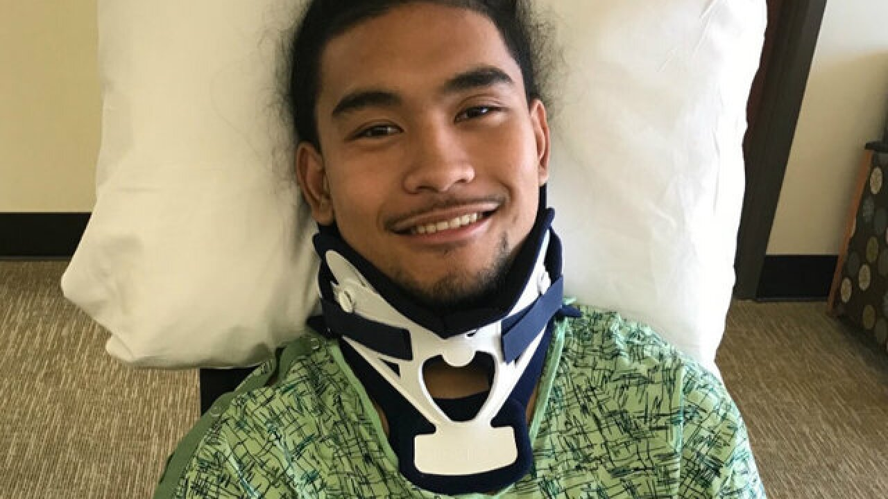 Cal football recruit walking months after injury