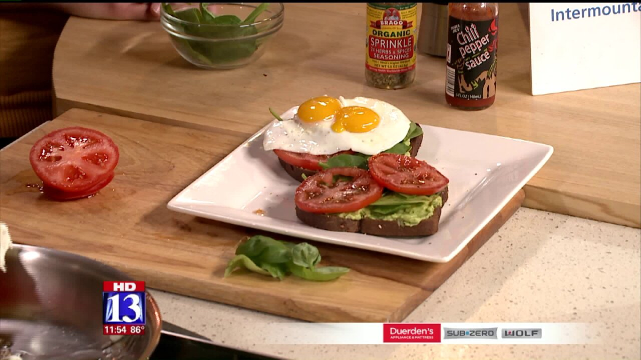 Avocado, Egg and TomatoToast