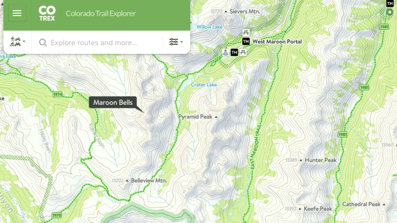 Colorado's official trail map app gets new features as summer hiking on places to go map, hiking tours, hunting map, nature map, orienteering map, trail map, following a map, hiking trail, hiking tips, space exploration map, hiking tracks,