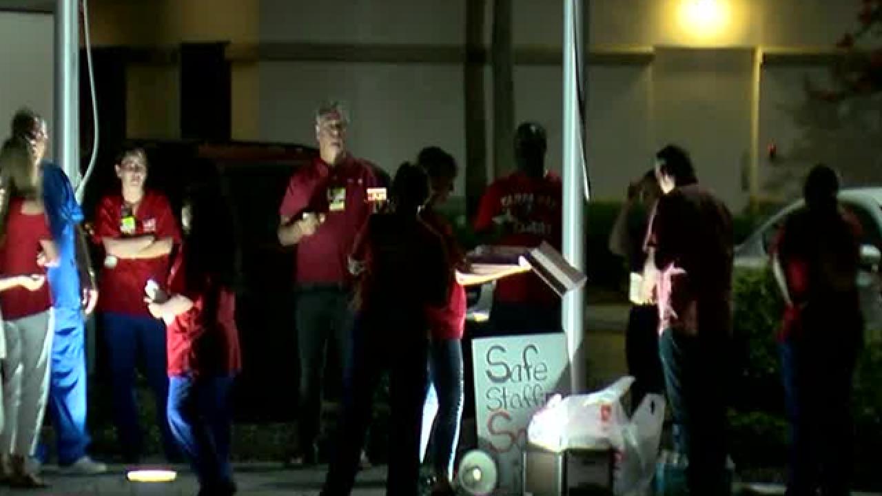 HCA nurses picketing over staffing concerns